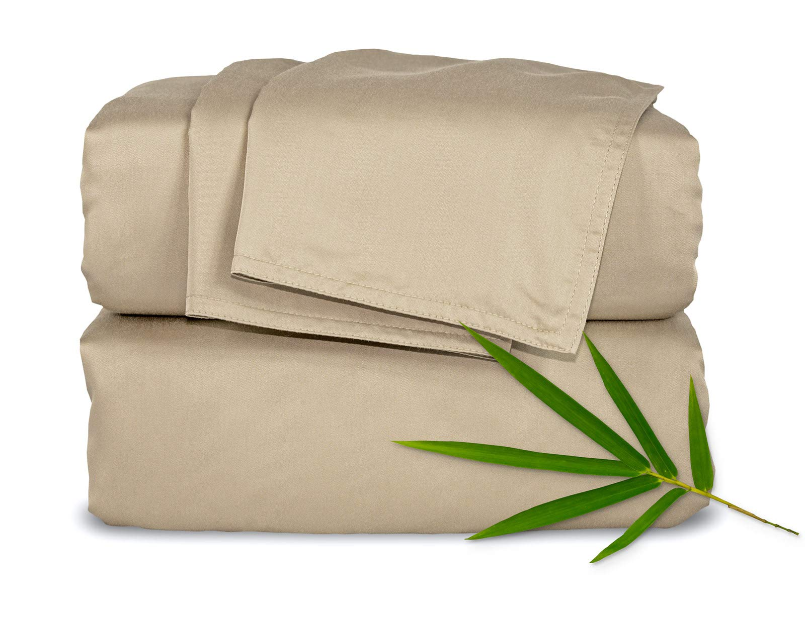 "Pure Bamboo Sheets Short Queen Sheets for RV or Camper (60""x75"") - 100% Bamboo Luxuriously Soft Bed Sheets (Sand) - ✔️ MADE FROM THE HIGHEST QUALITY ORGANIC PURE BAMBOO - Never blended with others fabrics or fibers ✔️ SHORT QUEEN 60""X75"" BEDDING SET INCLUDES: 1 fitted sheet, 1 flat sheet and 2 queen size envelope-style pillowcases -All with double-stitched seams ✔️ DEEP POCKETS FIT UP TO 16"" MATTRESS - Fitted sheet has deep pockets, a fully elasticized bottom and box fit stitching, ensuring a perfect snug fit that stays neatly in place - sheet-sets, bedroom-sheets-comforters, bedroom - 71PFGehOFZL -"