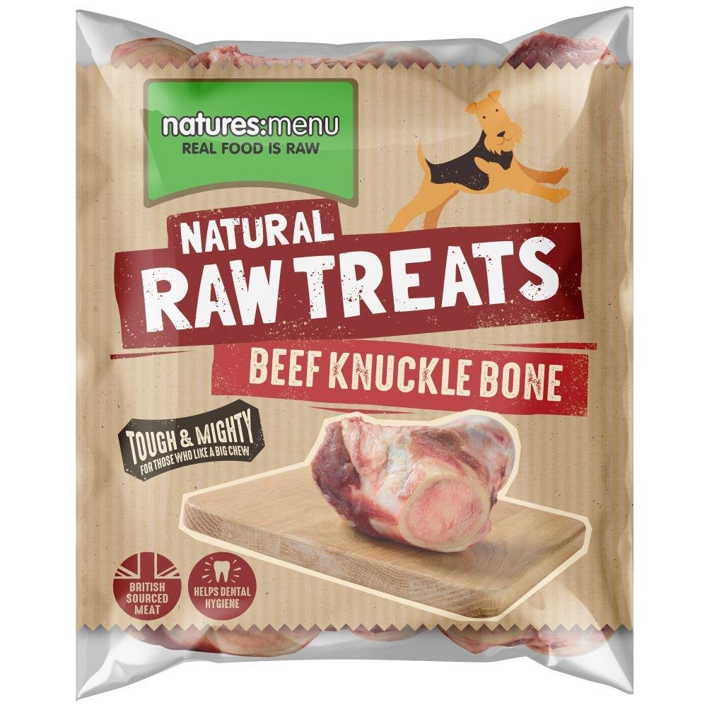 Natures Menu Dog Raw Frozen Chews Half Beef Knuckle Bone X1 Pack Of 1