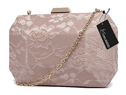 Kukubird Premium Glossy PU Material Clutch With Gold-tone Metal Strap Purse Wallet Clutch - White 7XV53I