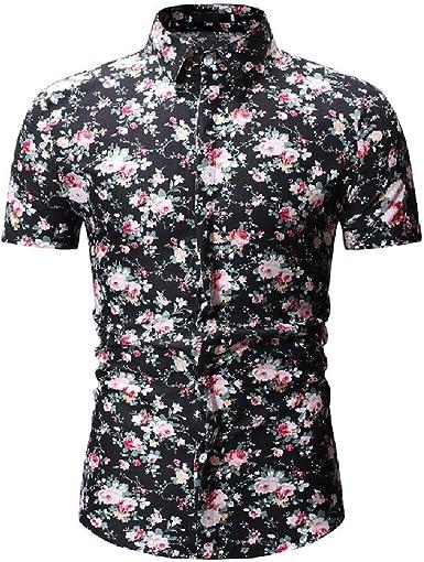 Camisa de manga corta para hombre de manga corta con diseño ...