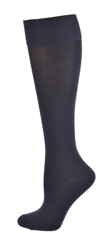Sierra Socks Girls School Uniform Opaque Nylon Knee High 3 Pair Pack Socks 2027