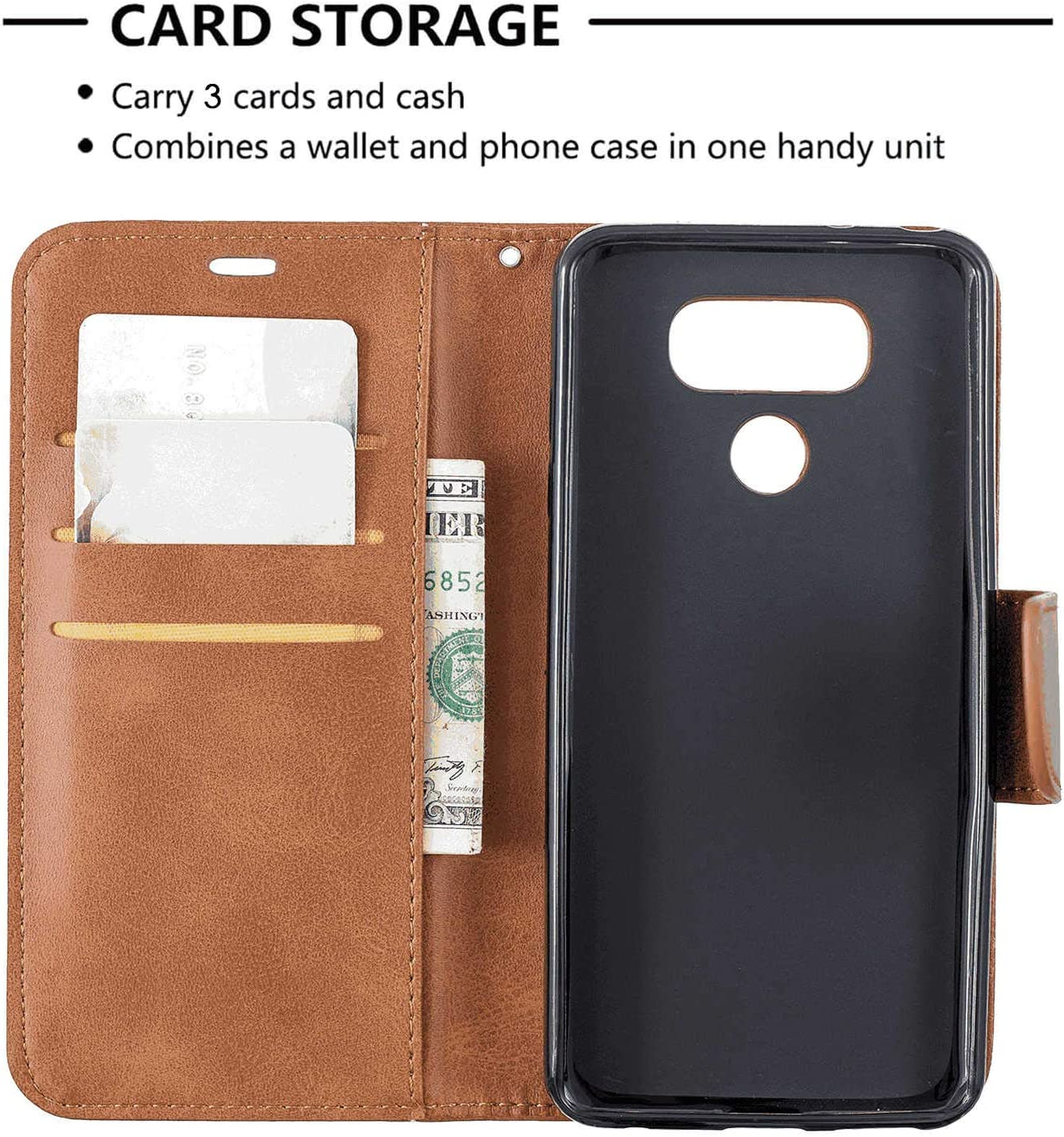 Flip Case for iPhone 8 Leather Cover Business Gifts Wallet with Extra Waterproof Underwater Case