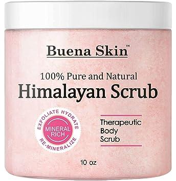 Himalayan Pure Salt Body Scrub with Lychee Oil | All Natural Scrub to  Exfoliate & Moisturize Skin, 10