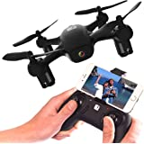 FADER Drone With HD Camera & WiFi App Live View - Auto Take-Off & Land - 6 Axis Gyro - FPV