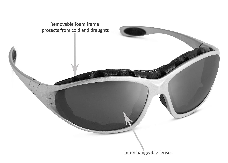 Speq Lunettes de protection solaire UV400 multi sports, verres  interchangeables, monture bleu ou argentée, pour la course à pied, le  cyclisme, le ski, ... ae53aec35c3a