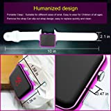 Brojet Girls Digital Watch Waterproof Outdoor Sport Watches for Kids Boys Children with Square Purple Silicon Strap