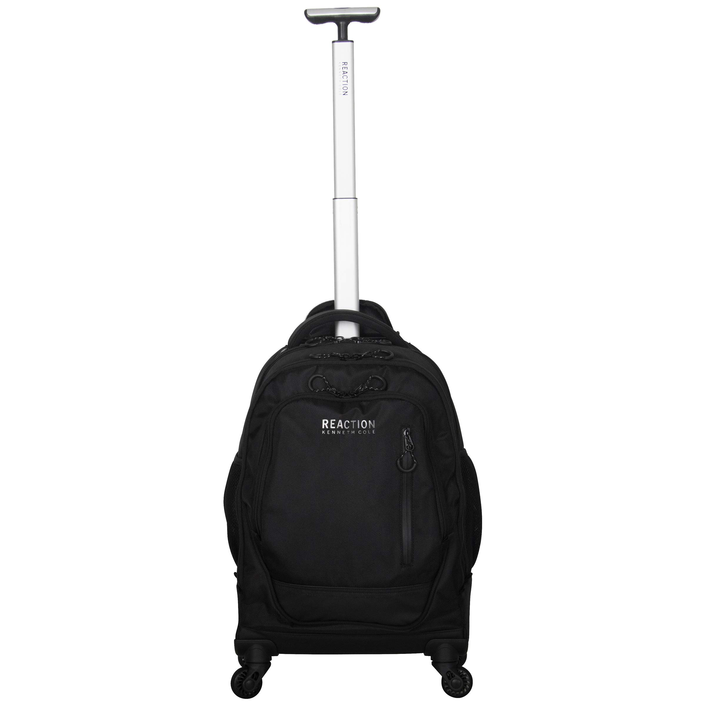 "Kenneth Cole Reaction 17"" Polyester Dual Compartment 4-Wheel Laptop Backpack, Black"
