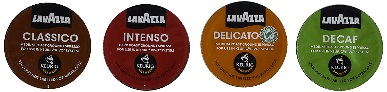 30 Cup Lavazza Espresso Sampler for Keurig Rivo Includes All 4 Varieties