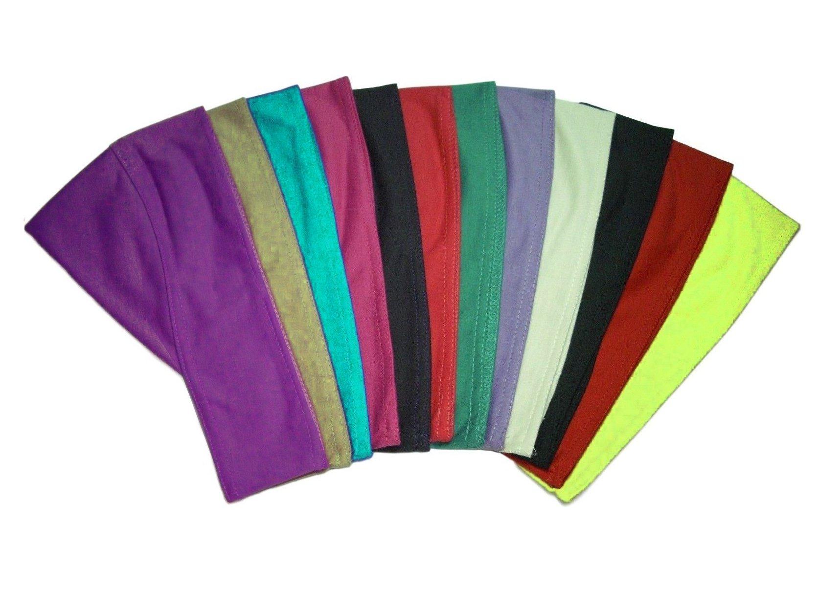 Lot 17 Various Colors Egyptian Headband Cotton Bandana Underscarf Hijab Bonnet
