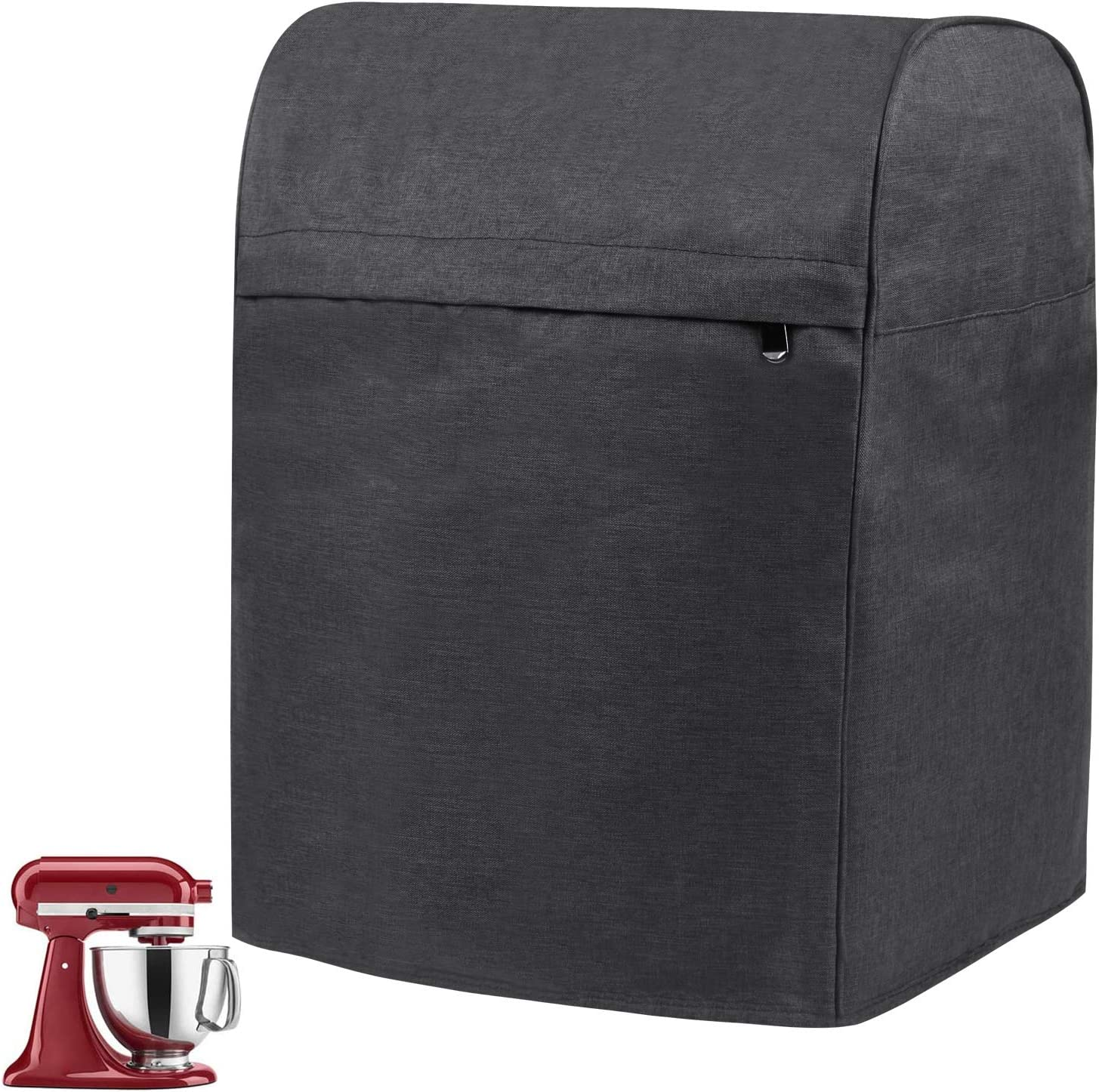EVERMARKET Stand Mixer Cover for 6-8 Quart KitchenAid Mixer,Dust-proof Cover Cloth Dust Cover with Pocket for Extra Attachments Accessories,Black
