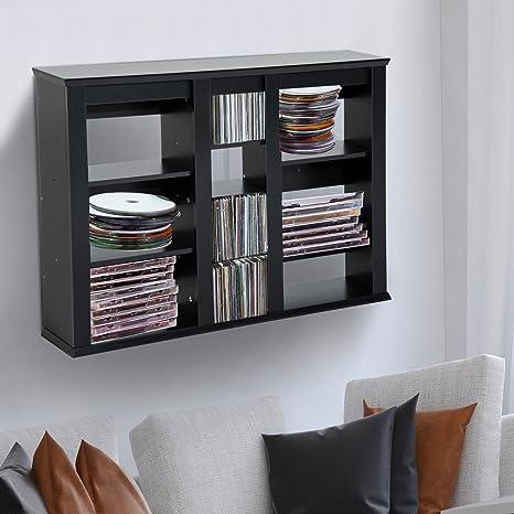 Amazon Com Hanging Cd Dvd Book Rack Media Storage Shelves Cabinet