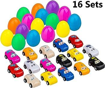 16-Pack DoitY Toy Filled Easter Eggs