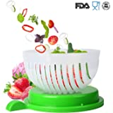Salad Cutter Bowl,Original Magic Salad Maker -Chop Fresh Vegetables and Fruits in Seconds (Tprasinous)