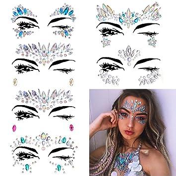 Amazon.com   6 Sets Women Mermaid Face Gems Glitter 97a071a7b62a