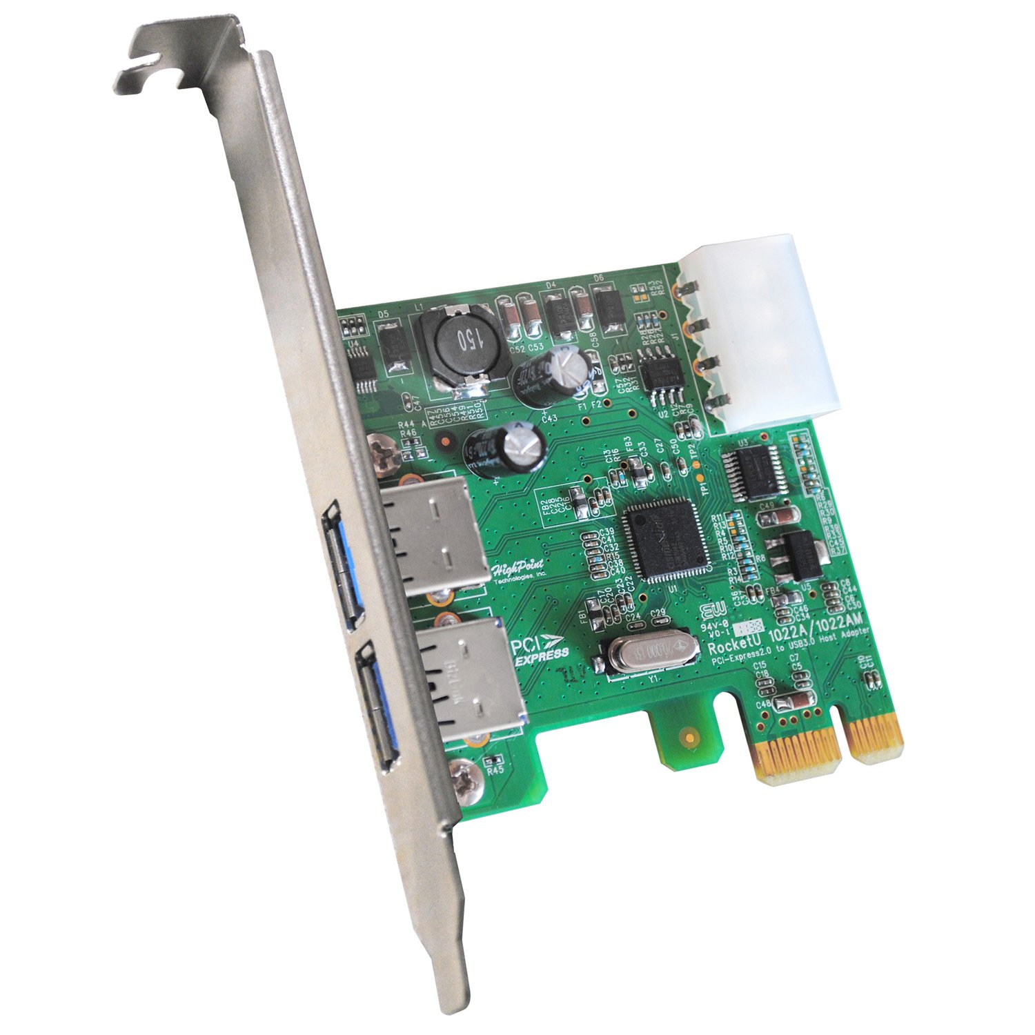 HighPoint RocketU Dual USB 3.0 - Tarjeta PCI-Express 2.0 para Mac (2 Puertos USB 3.0 SuperSpeed)