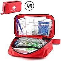Womdee First Aid Kit, 180 Pcs All-Purpose Emergency