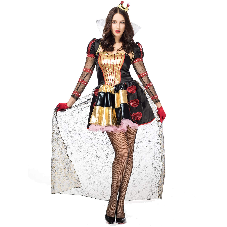 Sexy Red Queen of Hearts Halloween Costume - DeluxeAdultCostumes.com