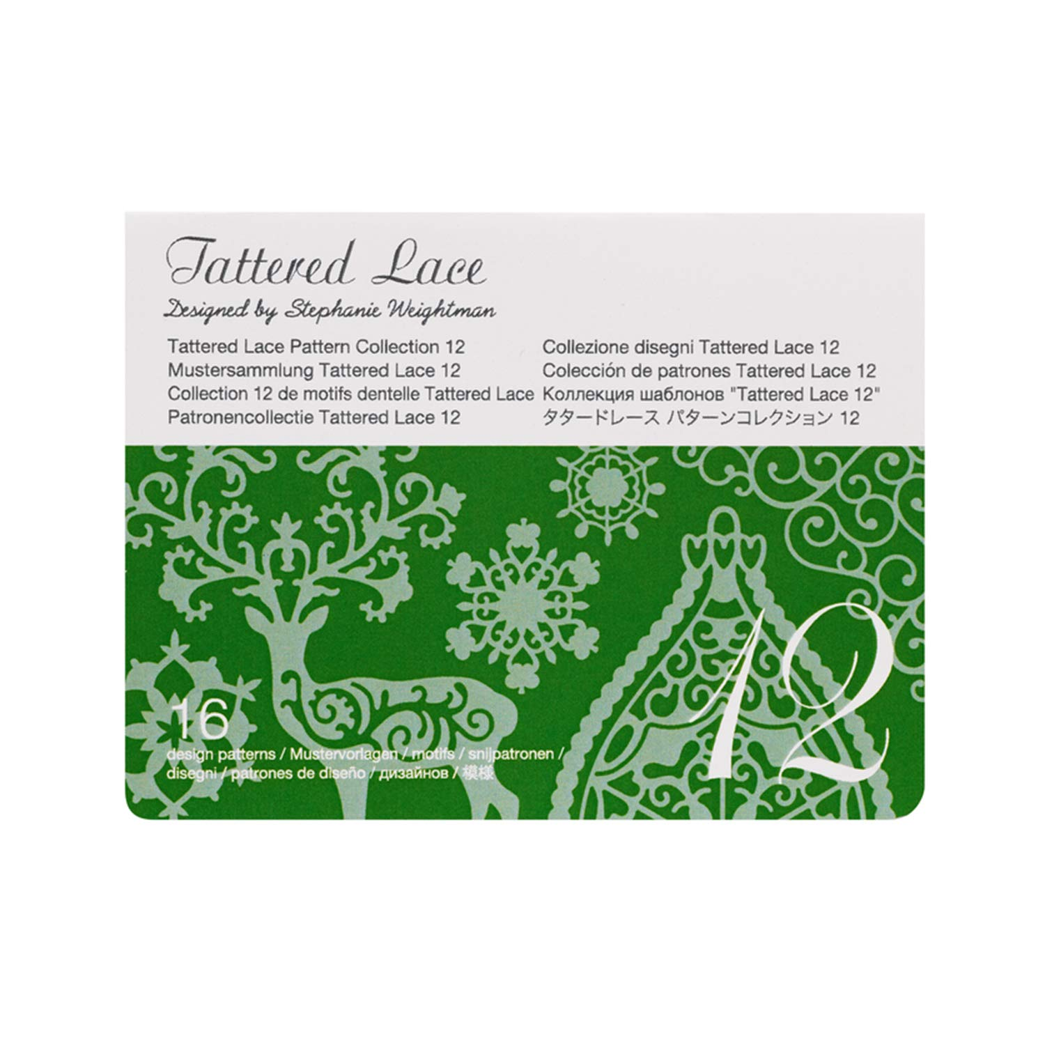 Brother CATTLP12 ScanNCut Series Tattered Lace 12 Pattern Collection, White