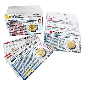 Set 187 Münzkarten Ohne Münze Ab 2004 Für 2 Euro Gedenkmünzen