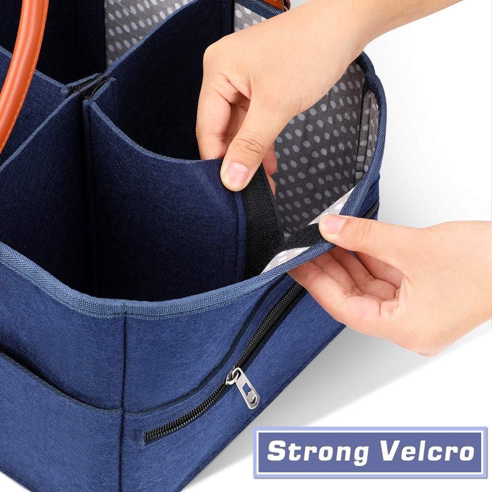 DaMohony Baby Diaper Stroller Organiser Divider Detachable Large Portable Diaper Storage Basket