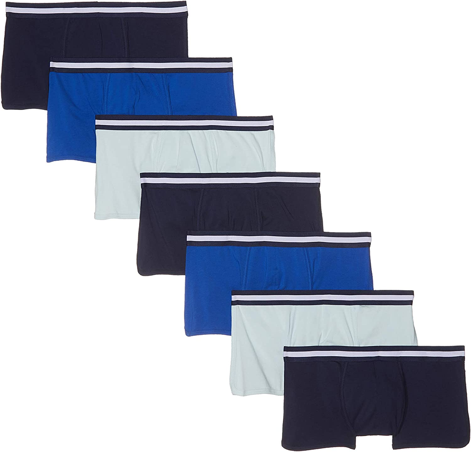 Amazon Brand - find. Men's Stretch Cotton Boxer Briefs Trunks, Pack of 7