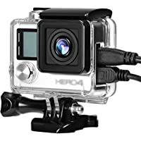 Taisioner Side Open Housing Case Protective Skeleton Frame for GoPro Hero 4/3 / 3+ Action Camera Accessories