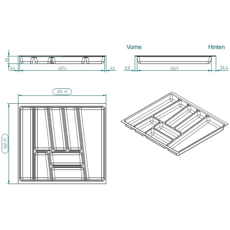 Amazon.com: Cutlery tray ORGA-BOXÃ'Â II for Nobilia 60cm ...
