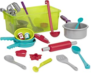 Battat – Cooking Set – Pretend Play Toy Dishes Set - Plastic Kitchen Toys for Toddlers 3 Years + (21-Pcs)