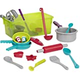 Battat - Cooking Set - Pretend Play Toy Dishes Set - Plastic Kitchen Toys Toddlers 3 Years + (21-Pcs)
