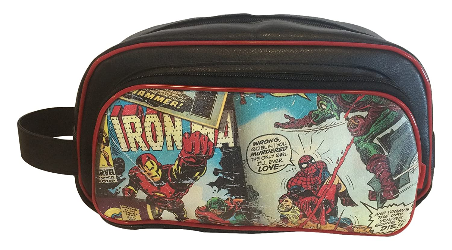 d1697752464b BB Designs, Marvel Retro Comics, Toiletry Bag, Makeup Toiletries Bag
