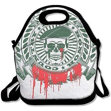 Bolsas de almuerzo de neopreno con diseño de calavera de ...