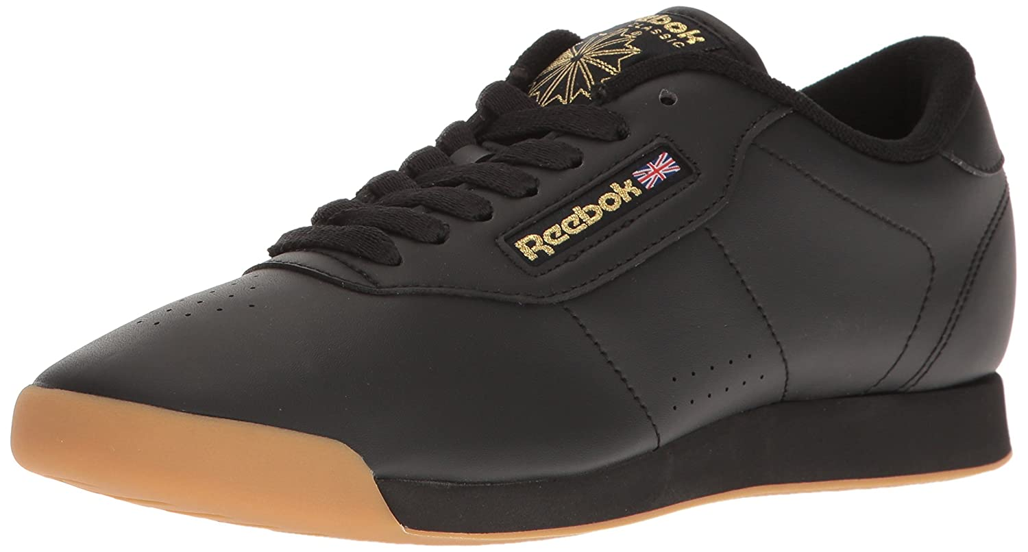 Reebok Women's Princess Sneaker B06XWKF4MY 11 B(M) US|Black/Gum