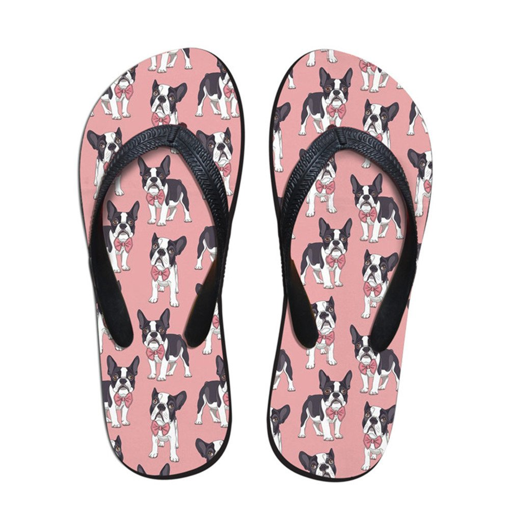 Coloranimal K-H849AB3, Infradito Donna Classy Boston Terrier