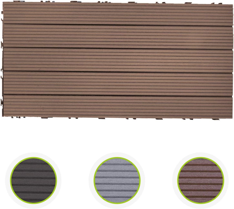 Randabschluss Anthrazit HORI/® Terrassenfliesen WPC I Klick Bodenfliesen aus Kunststoff in Holzfliesen Optik I Modell