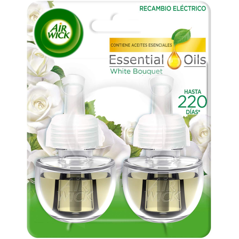 AIRWICK ambientador eléctrico white bouquet recambio 2 uds