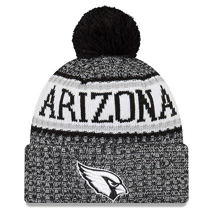 33cad217776 New Era Arizona Cardinals Black   White Sport Knit NFL 2018 Beanie Unisex  Hat