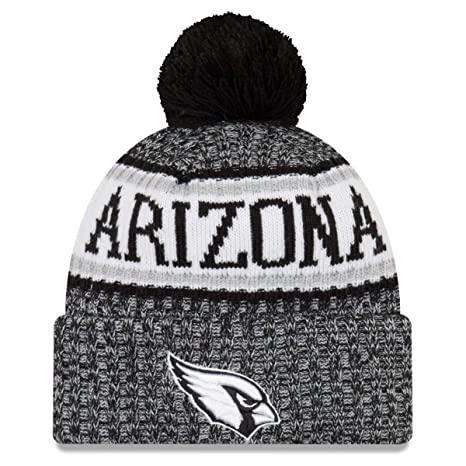 119dcab2cceeb2 New Era Arizona Cardinals Black & White Sport Knit NFL 2018 Beanie Unisex  Hat, ...