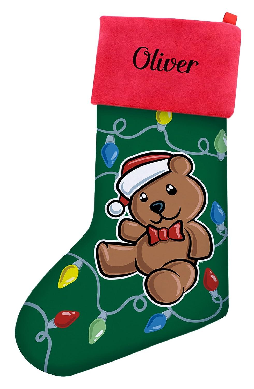 684486675 Amazon.com: Custom Christmas Stockings Kids Christmas Teddy Bear ...