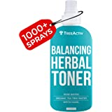 TreeActiv Balancing Herbal Toner   Anti-Aging & Anti-Acne Spray with Witch Hazel + Clary Sage + Rose Water for Face & Neck  