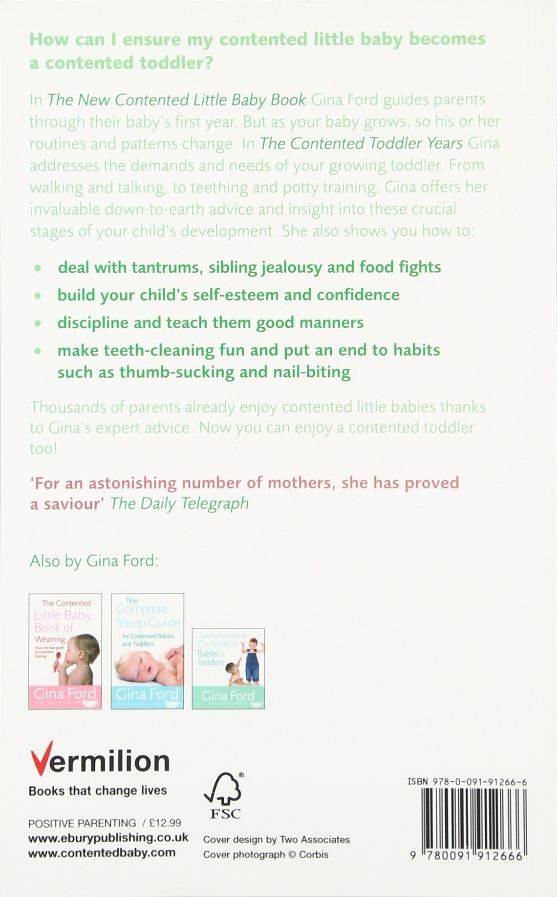 The Contented Toddler Years: Amazon.de: Gina Ford: Fremdsprachige Bücher