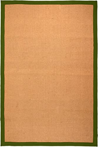 Blue Nile Mills Natural Classic Collection Hand Woven Jute Rug 8'X10'