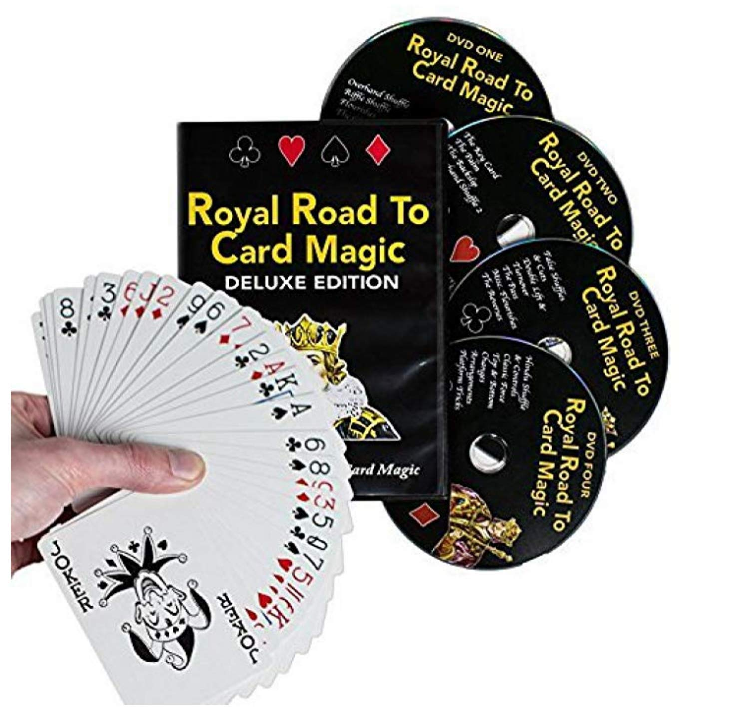 Magic Makers Royal Road to Card Magic Deluxe Magic Training - Complete Set Including a Delands Marked Deck - Over 100 Card Trick Effects from Beginner to Expert Skill Levels by Magic Makers