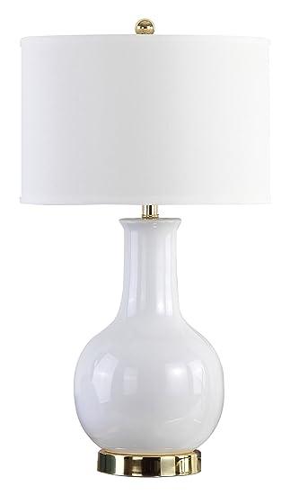 Safavieh Lighting Collection Paris White Ceramic 27 Inch Table Lamp