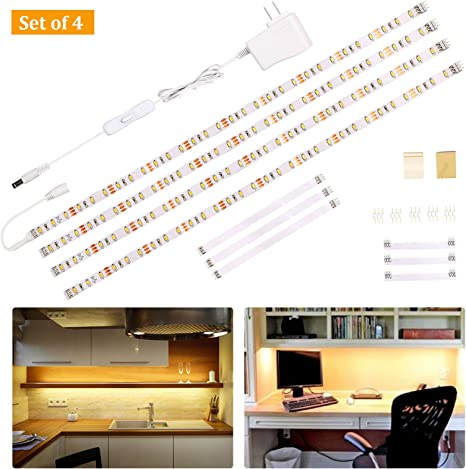 Kitchen LED Under Cabinet Light Bar Hand Sensor LED Strip Nightlight Closet Lamp