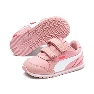 St Weiss V2 Rosa Runner Sneaker Puma V Low Inf Kinder Nl Boot Bridal nw8OP0k