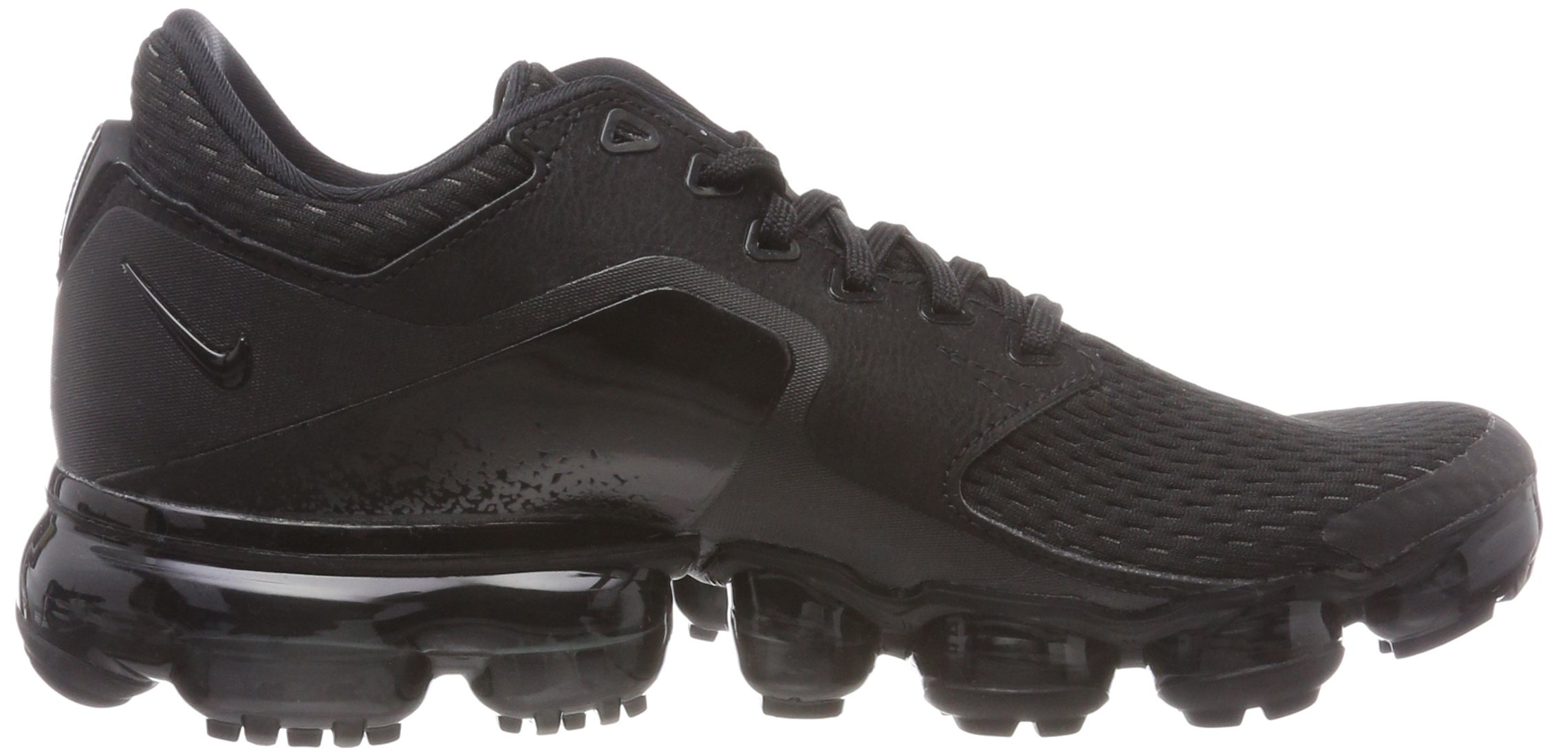 NIKE Kids' Grade School Air Vapormax Running Shoes (Black/Black/Black,5) by NIKE (Image #6)