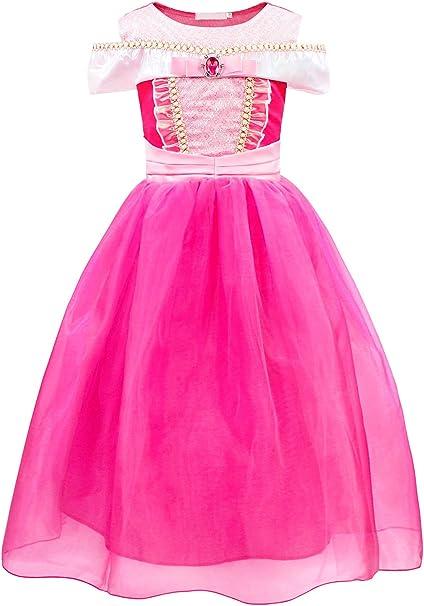 AmzBarley Disfraz Princesa Aurora Vestido niñas, Disfraces Traje ...