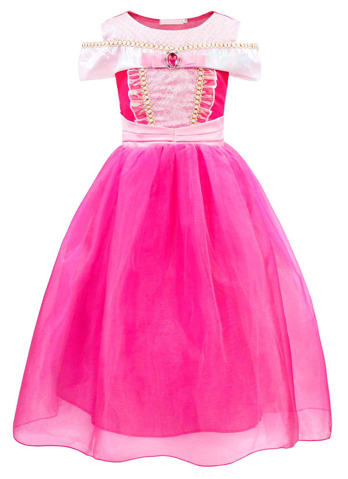 - 71PFcBxyDiL - Filare Rapunzel Aurora Costume Dress Up Princess Girls Birthday Party Cosplay Clothes