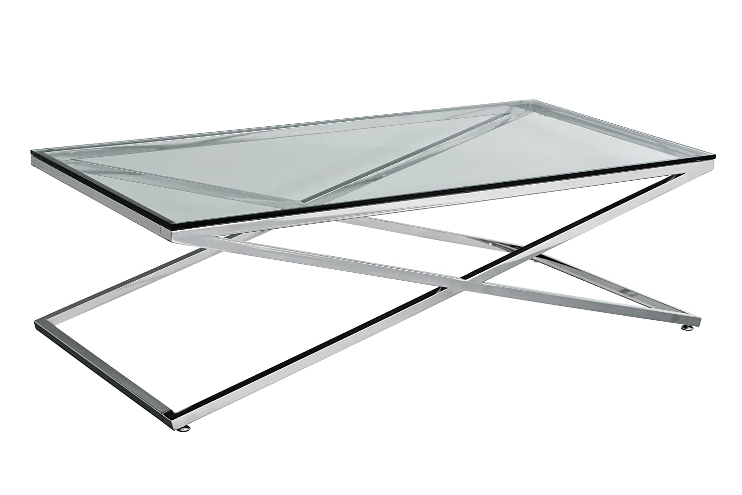 premier housewares coffee table with stainless steel frame and