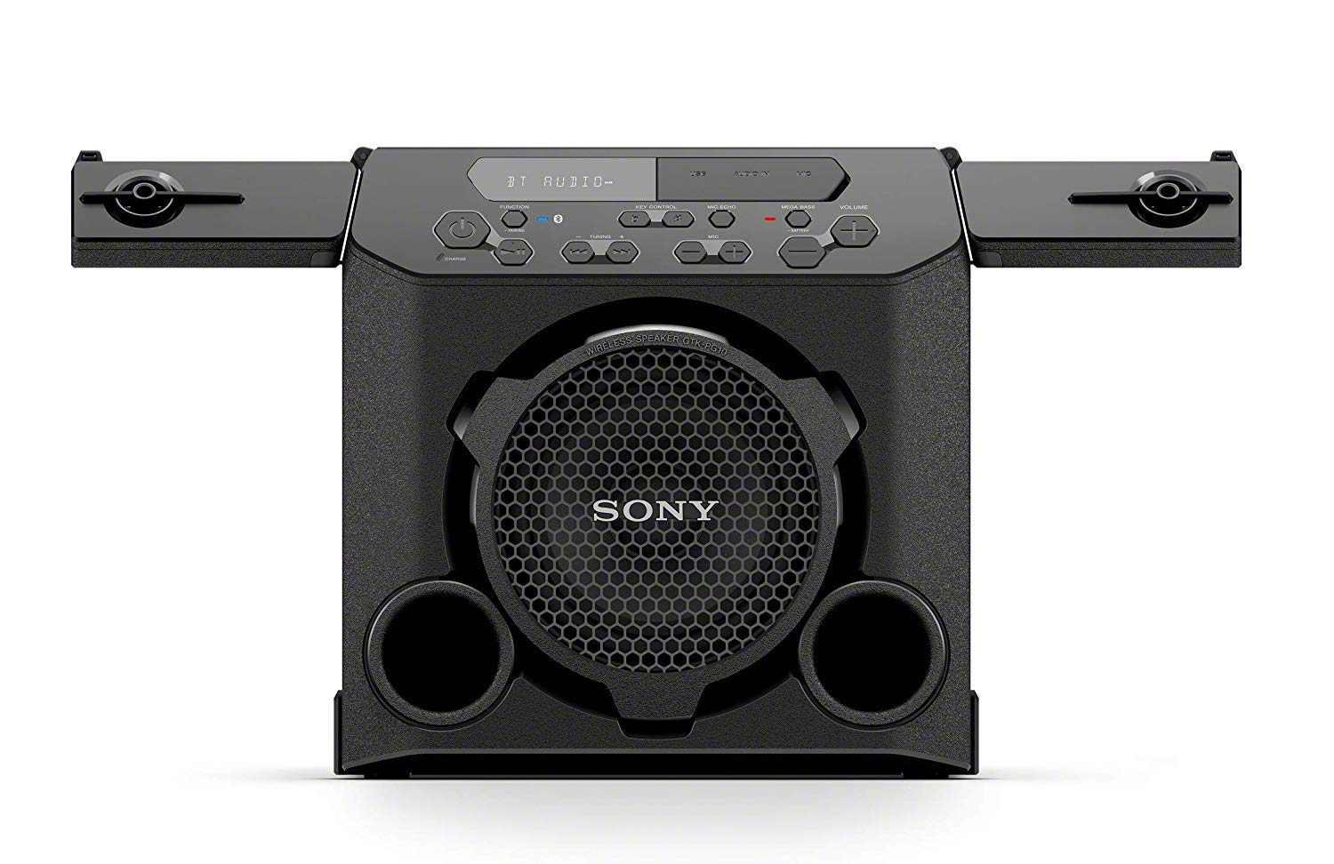 Sony GTK-PG10 Portable Bluetooth Speaker: Wireless Indoor / Outdoor Bluetooth Speakers - Compact Party Stereo System with Cup Holders - Travel Speaker with FM Radio Tuner, Microphone Jack, USB Port